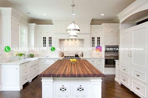 kitchen set jati minimalis mewah klasik