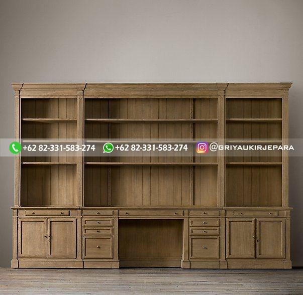 lemari pajangan jati minimalis mewah klasik ukiran 15 - 10+ Lemari Hias Dan Lemari Buku Jati