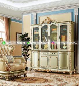 lemari pajangan jati minimalis mewah klasik ukiran 16 273x300 - Model lemari hias jati mewah klasik