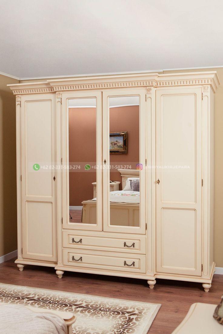 lemari pakaian jati mewah 4 pintu
