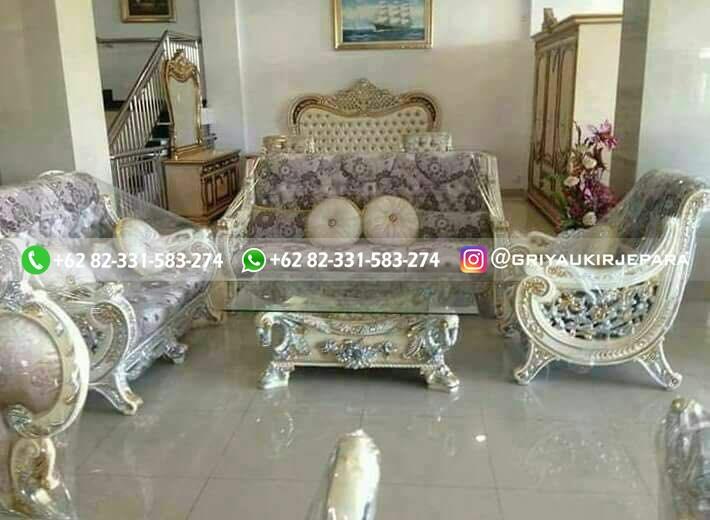 sofa tamu jati raffi ahmad1 - Sofa Ruang Tamu Jati Raffi Ahmad
