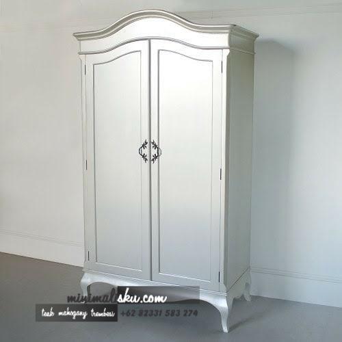 Lemari Pakaian 2 Pintu Silver