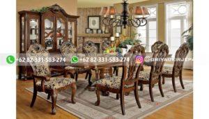 meja makan jati mewah 2 300x171 - Meja Makan Jati Mewah Ukiran Jepara