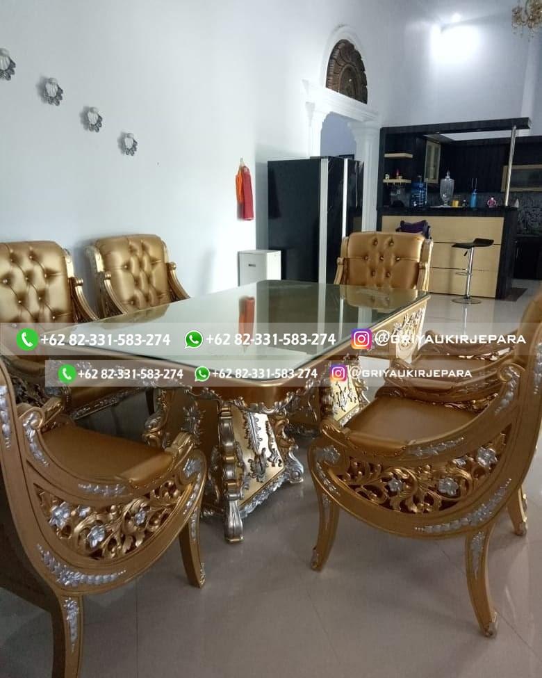 meja makan raffi ahmad kayu jati