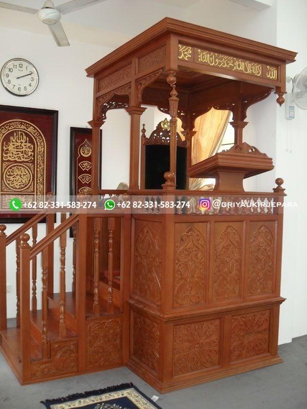 mimbar masjid mewah jati jepara