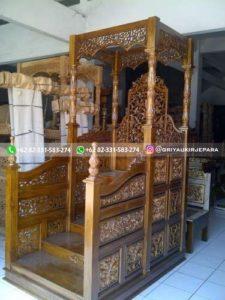 mimbar masjid132 225x300 - Mimbar Masjid Jati Murah Ukiran Jepara