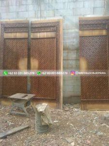 replika pintu masjid nabawi 1 225x300 - Pintu Jati Replika Pintu Masjid Nabawi