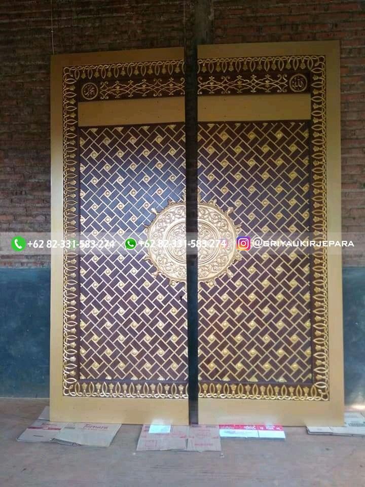replika pintu masjid nabawi 2 - Pintu Jati Replika Pintu Masjid Nabawi