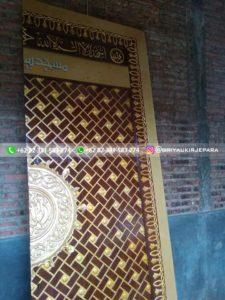 replika pintu masjid nabawi 4 225x300 - Pintu Jati Replika Pintu Masjid Nabawi