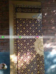 replika pintu masjid nabawi 5 225x300 - Pintu Jati Replika Pintu Masjid Nabawi