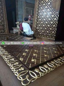 replika pintu masjid nabawi 7 225x300 - Pintu Jati Replika Pintu Masjid Nabawi
