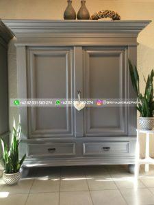 lemari pakaian jati modern 25 225x300 - 20+ Model Lemari Pakaian Jati Pintu 2