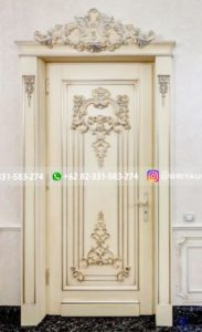Kusen Pintu Jati Jepara 104 183x300 - Pintu Kamar Pintu Rumah Kayu Jati Warna Putih