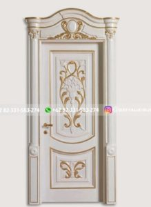 Kusen Pintu Jati Jepara 112 219x300 - Pintu Kamar Pintu Rumah Kayu Jati Warna Putih