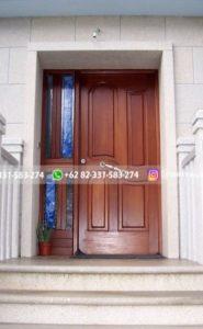 Kusen Pintu Jati Jepara 113 185x300 - Pintu Jati Minimalis Panel Kotak Mewah