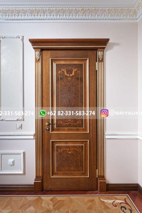 pintu jati klasik mewah