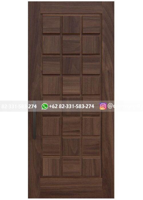 pintu jati minimalis panel kotak sederhana