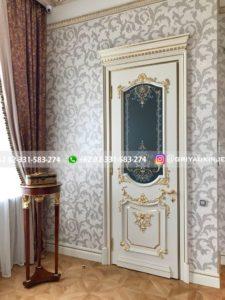 Kusen Pintu Jati Jepara 41 225x300 - Pintu Kamar Pintu Rumah Kayu Jati Warna Putih