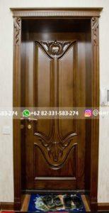 Kusen Pintu Jati Jepara 54 154x300 - 10+ Model Pintu Kamar Kayu Jati
