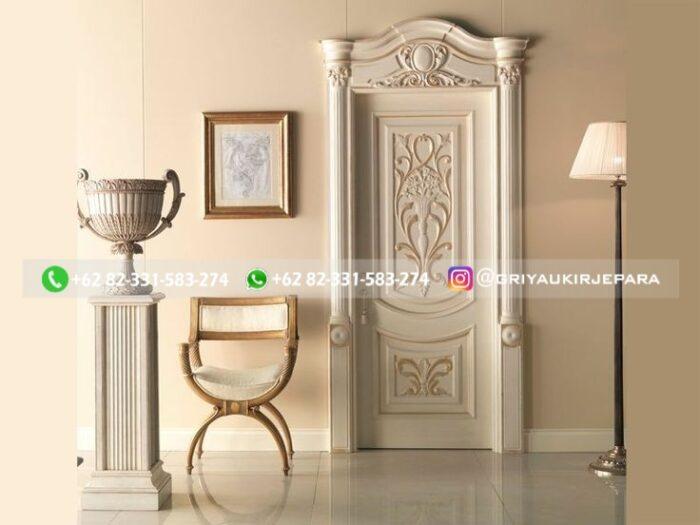 Pintu Kamar Pintu Rumah Kayu Jati Warna Putih