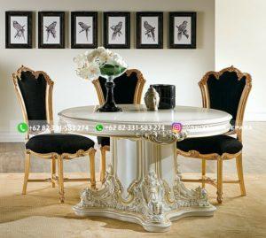 meja makan jati mewah 2 300x269 - Meja Makan Bundar Jati Mewah Jepara
