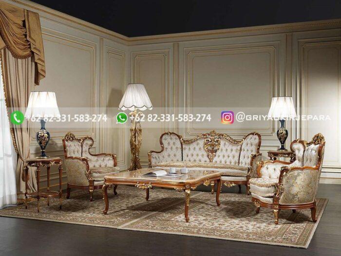 sofa ruang tamu mewah barocco