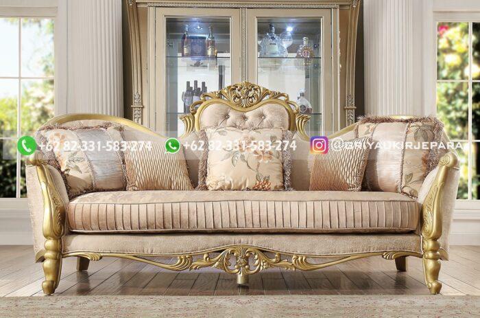 sofa ruang tamu jati Angelo 3 seater