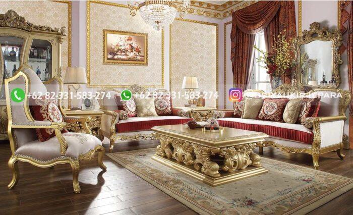 Sofa Ruang Tamu Jati Mewah Lacovone