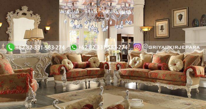 Sofa Ruang Tamu Jati Mewah Nowella