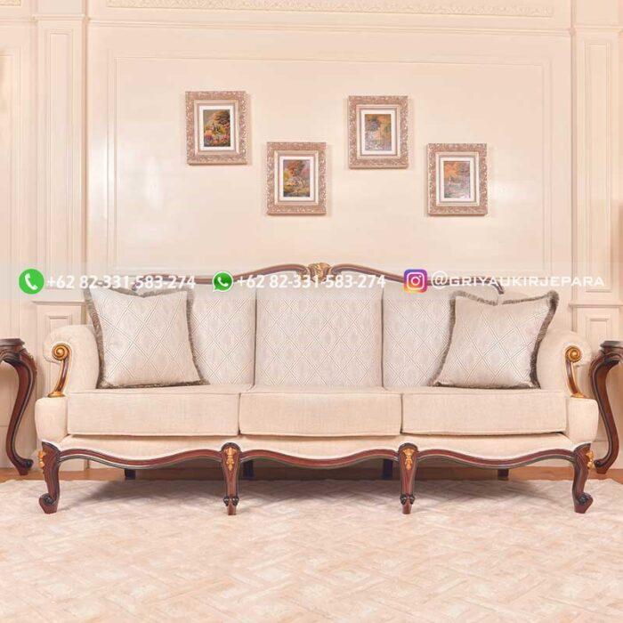 sofa ruang tamu jati ukiran mewah Griya Ukir Jepara