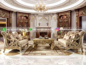 Sofa Ruang Tamu Jati Mewah Luigi Ferraris