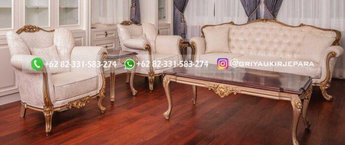 Sofa Ruang Tamu Jati Ennio Tardini