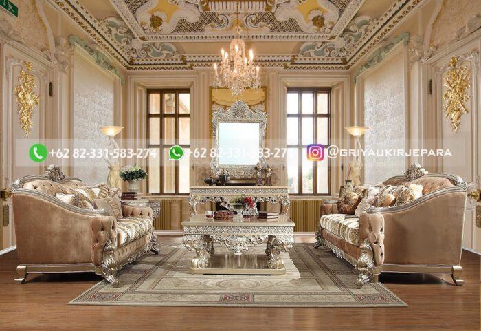 Sofa Ruang Tamu Jati Mewah Prisca
