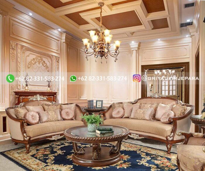 Sofa Ruang Tamu Jati Mewah Renata