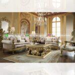 Sofa Ruang Tamu Jati Mewah Valencia