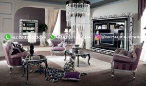 Sofa Ruang Tamu Jati Mewah Flaminio