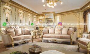 Sofa Ruang Tamu Jati Mewah Castellani