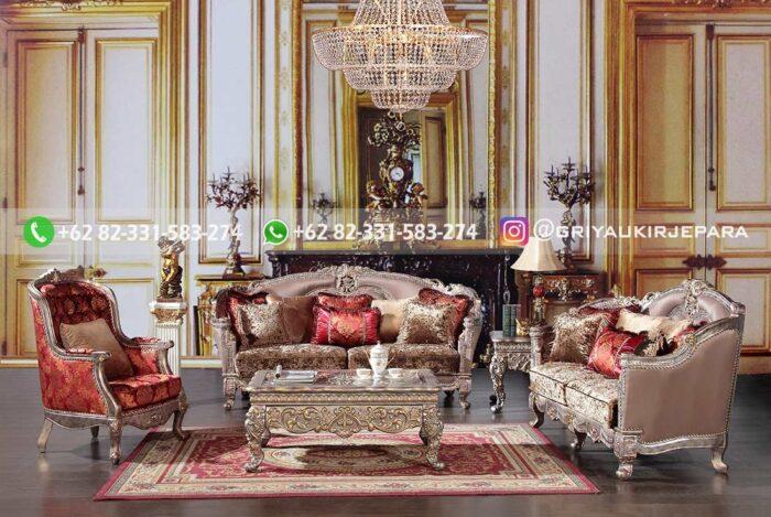 Sofa Ruang Tamu Jati Mewah Angelo