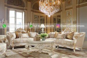 Sofa Ruang Tamu Jati Mewah Bergamo