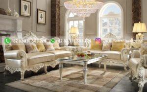 Sofa Ruang Tamu Jati Mewah Patricia