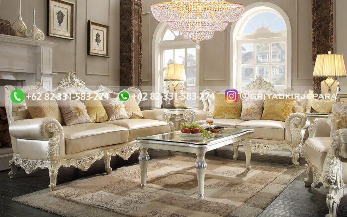sofa ruang tamu jati mewah Patricia scaled - Sofa Ruang Tamu Jati Mewah Patricia