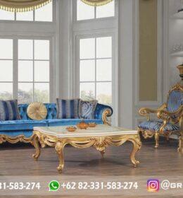 Sofa Ruang Tamu Jati Mewah Kode 101
