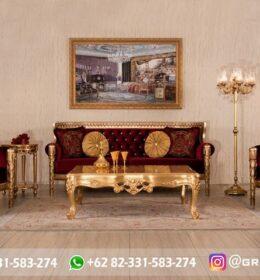 Sofa Ruang Tamu Jati Mewah Kode 105