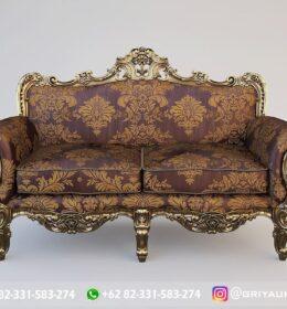 Sofa Ruang Tamu Jati Mewah Kode 107