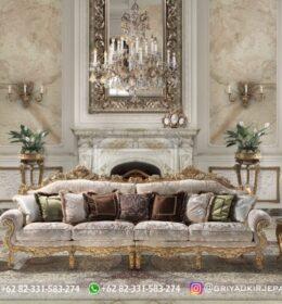 Sofa Ruang Tamu Jati Mewah Kode 108