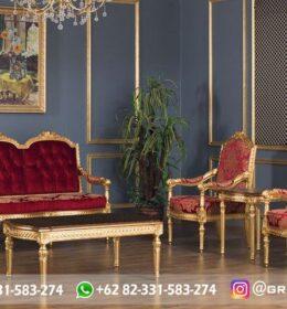Sofa Ruang Tamu Jati Mewah Kode 110