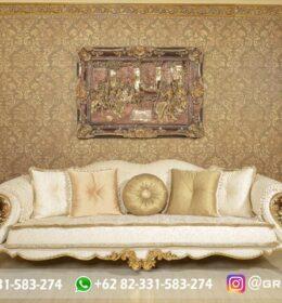 Sofa Ruang Tamu Jati Mewah Kode 111
