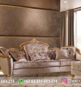 Sofa Ruang Tamu Jati Mewah Kode 114