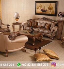 Sofa Ruang Tamu Jati Mewah Kode 116
