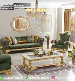 Sofa Ruang Tamu Jati Mewah Kode 122